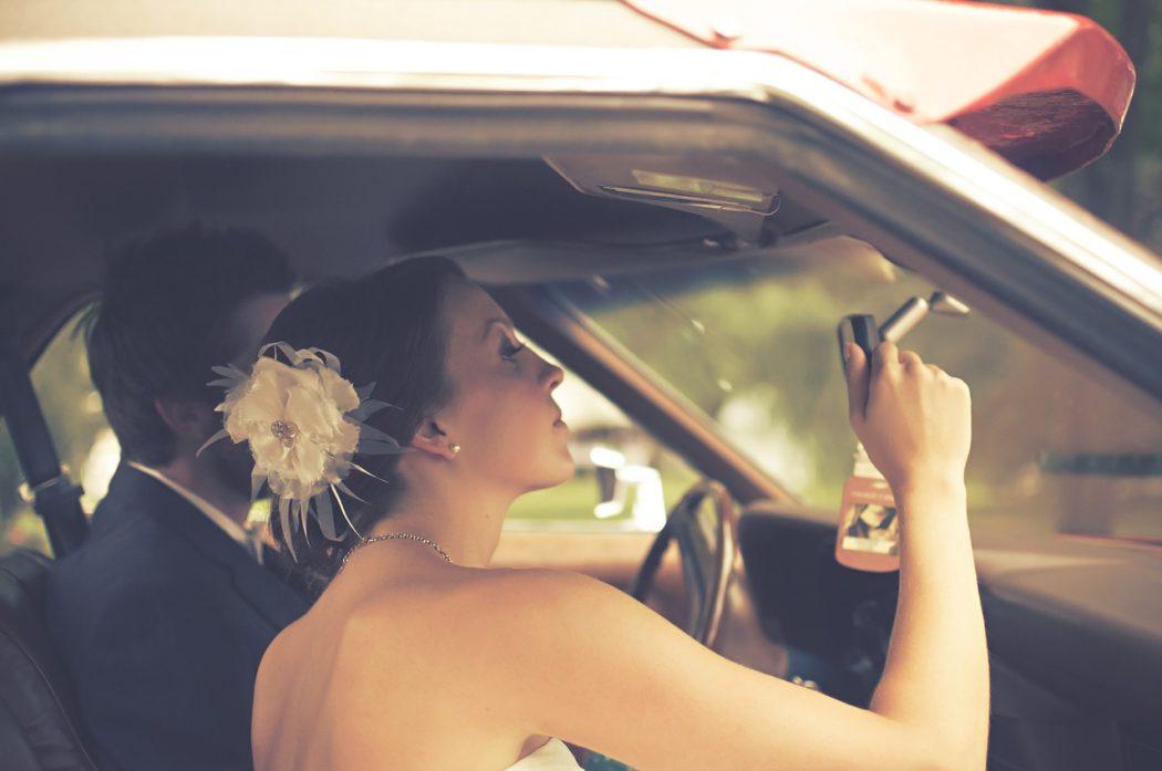 Sminkespeil i bil